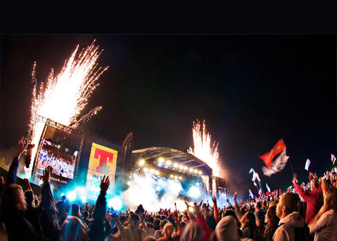 T in the park, UK