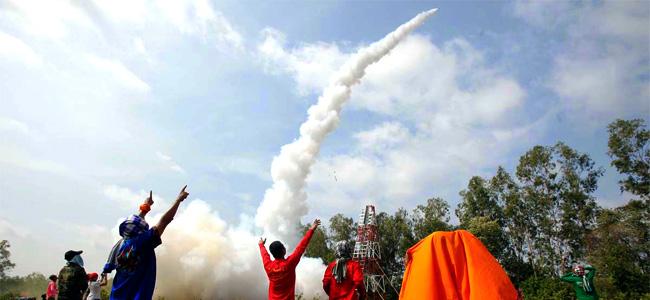 Bun Bang Fai Rocket Festival, Thailand