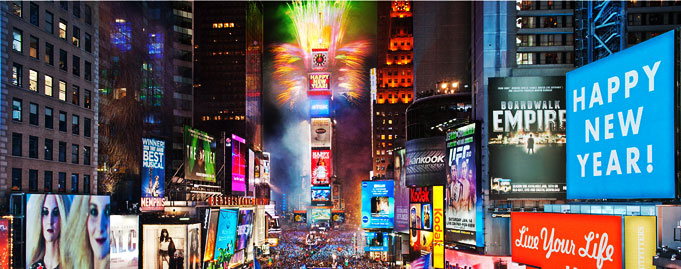 NY times square, New Year's Eve